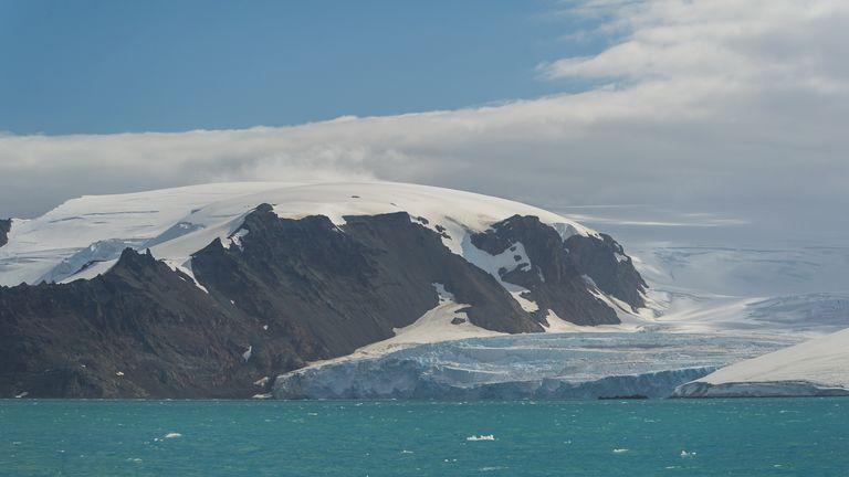 نمایی از یخچال لنج ، قطب جنوب