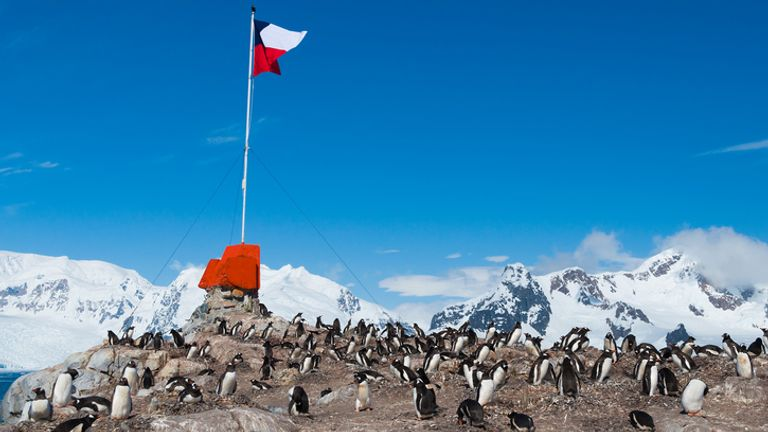 Chile has a collection of bases in Antarctica
