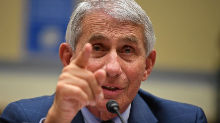 WASHINGTON, DC - JULY 31: Dr. Anthony Fauci, Director of the National Institute for Allergy and Infectious Diseases testifies at a House Subcommittee on the Coronavirus Crisis hearing on Capitol Hill on July 31, 2020 in Washington, DC. The committee will hear testimony from members of the Trump administration's Coronavirus Task Force. (Photo by Kevin Dietsch-Pool/Getty Images)