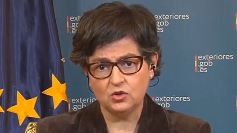 Spain's foreign minister Arancha Gonzalez Laya