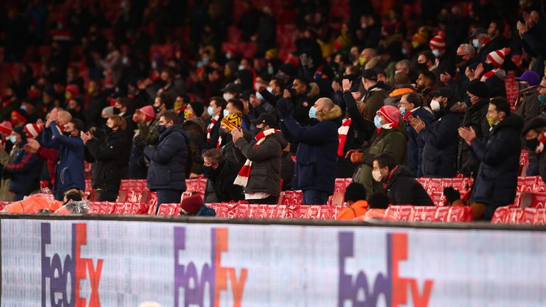 Arsenal welcomed back fans for the first time since 11 March