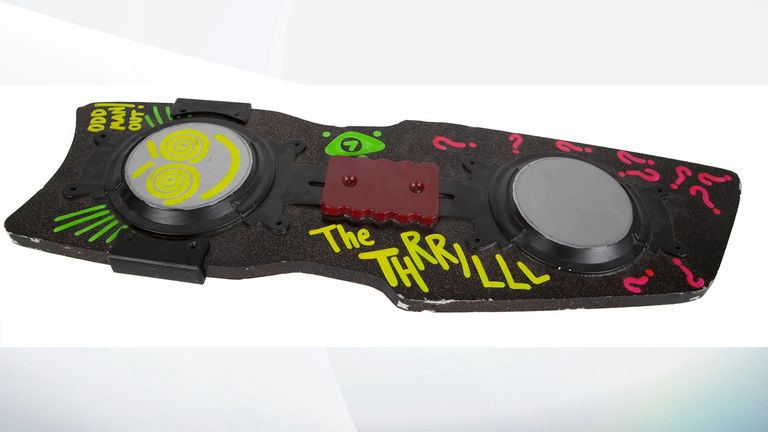Undated handout photo issued by Julien's Auctions of a hoverboard from Back To The Future Part II, created for the character Spike, went for 10,625 dollars (£7,900), part of their Icons & Idols: Trilogy sale.
