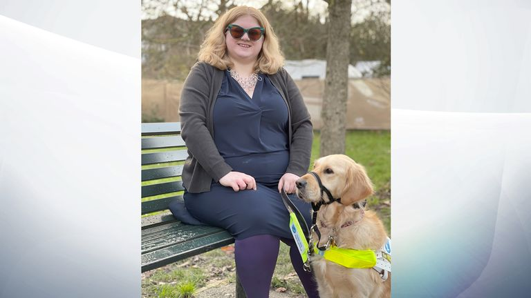 Amy Kavanagh and her guide dog Ava