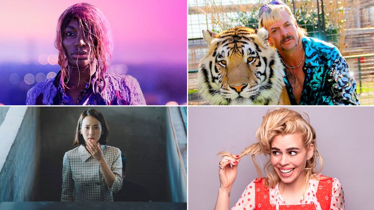 Clockwise from top left: I May Destroy You - BBC; Tiger King - Netflix; I Hate Suzie - Sky UK; Parasite - CJ Entertainment