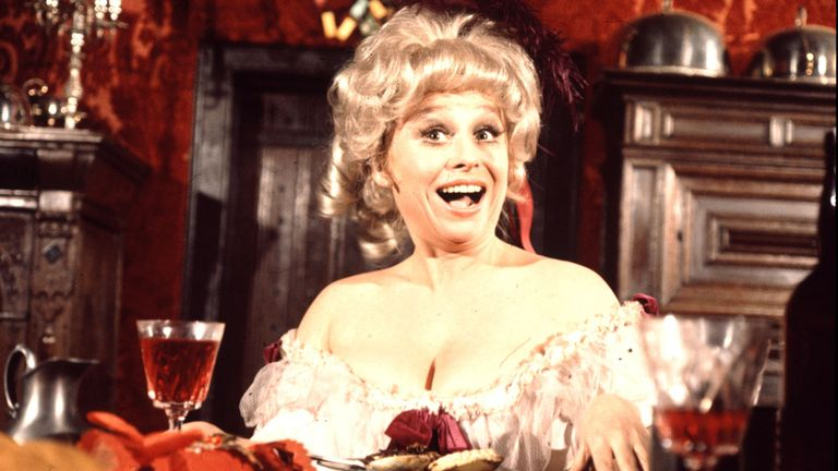 Barbara Windsor stars in Carry On Christmas in 1973
