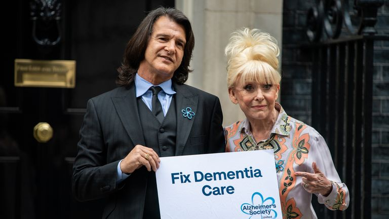 Dame Barbara Windsor arrives at 10 Downing Street with her husband Scott Mitchell on 2 September 2019 to discuss dementia care