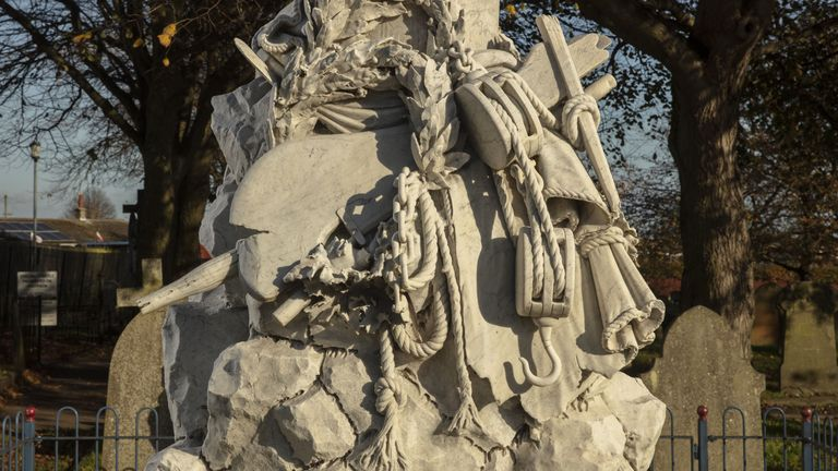 Beauchamp Lifeboat Memorial in Caister-on-Sea in Norfolk was unveiled in 1903