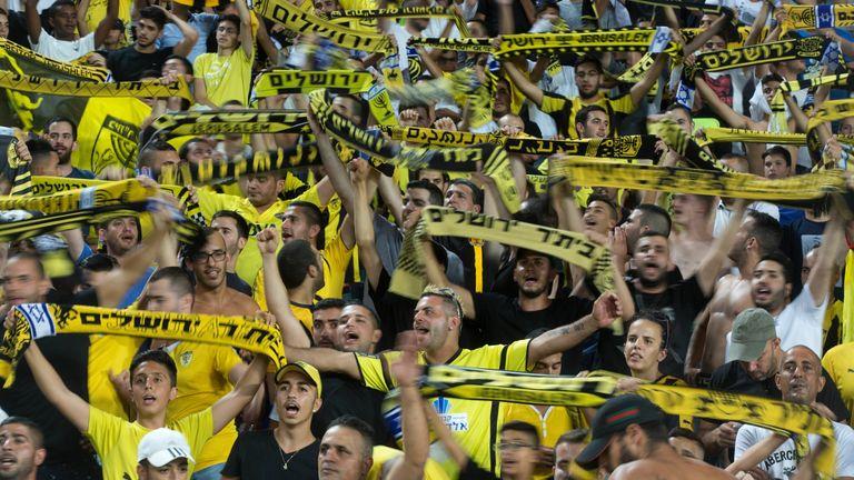 Beitar's fans at a match in 2015