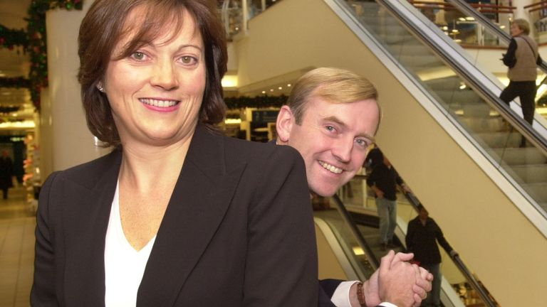 Belinda Earl, Chief Executive of the Debenhams store group, with Finance Director Matthew Roberts at their flagship shop in London's Oxford Street ahead of the release of their annual results. 22/10/2002