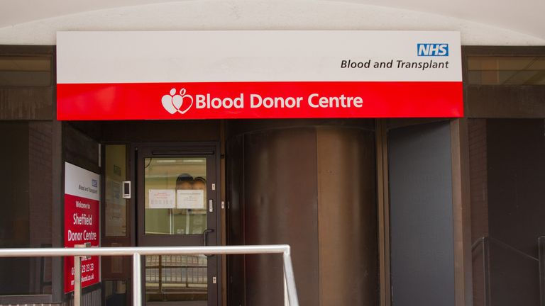The NHS is urging people to book an appointment to donate blood