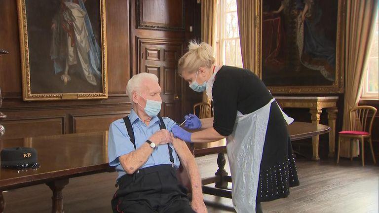 Bob Sullivan was vaccinated at the Royal Chelsea Hospital
