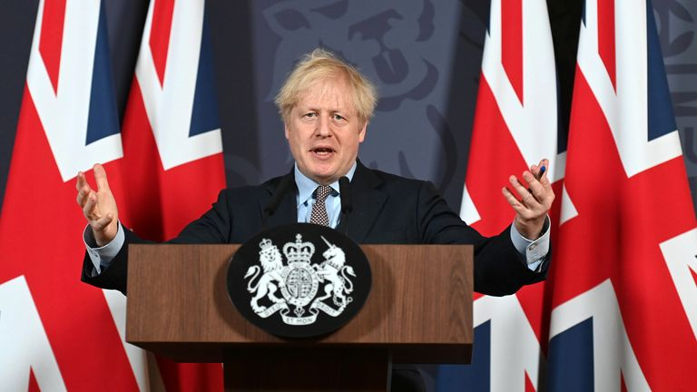 Boris Johnson speaks about the trade deal with the EU