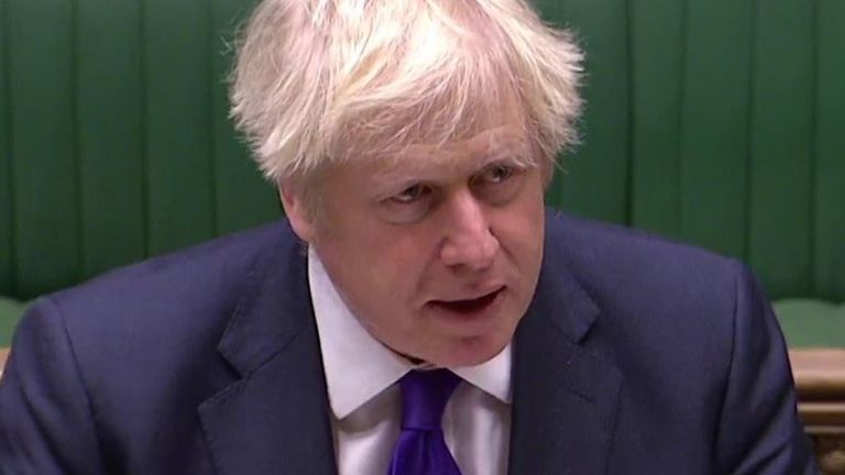 Boris Johnson at PMQs