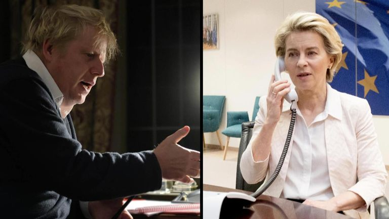 Boris Johnson and Ursula von der Leyen spoke in an hour-long phone call on Saturday