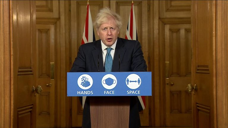 Boris Johnson news conference
