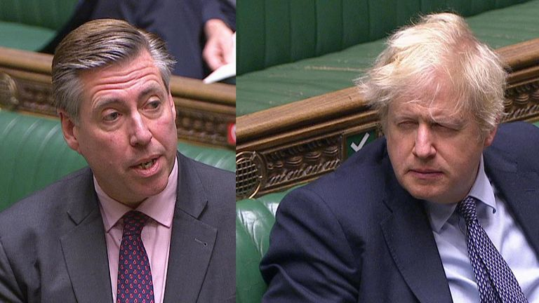 Prime Minister Boris Johnson responds to Tory backbencher Sir Graham Brady's decision not to vote for new tier restrictions
