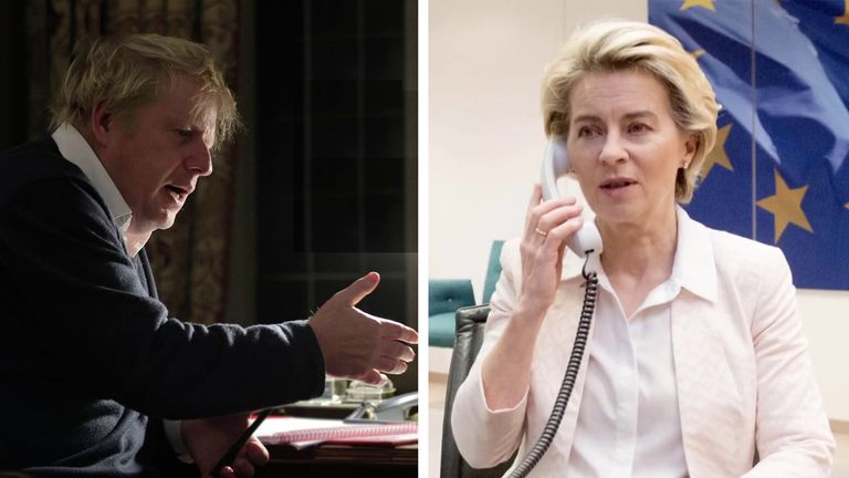 Boris Johnson and Ursula von der Leyen spoke in an hour-long phone call on Saturday