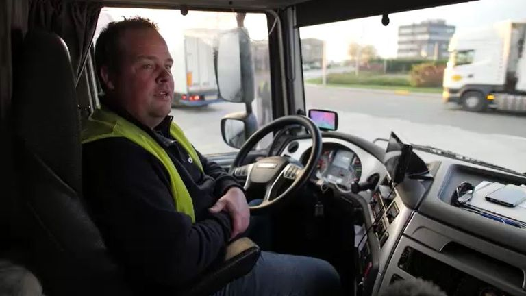 Driver Jeffrey Popma from ABC Logistics in Poeldijk near The Hague