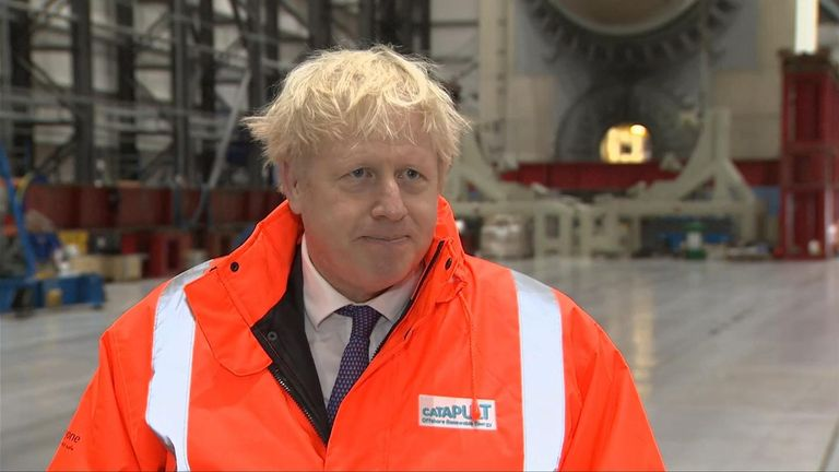 Prime Minister Boris Johnson said a no-deal Brexit was 'looking very, very likely' but that it 'would be wonderful for the UK'