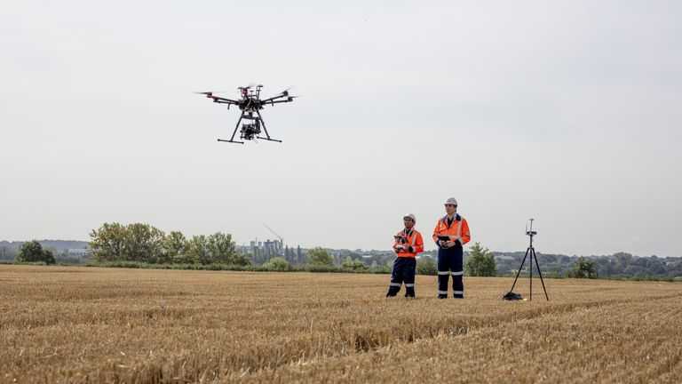BT leads the drone corridor experiment