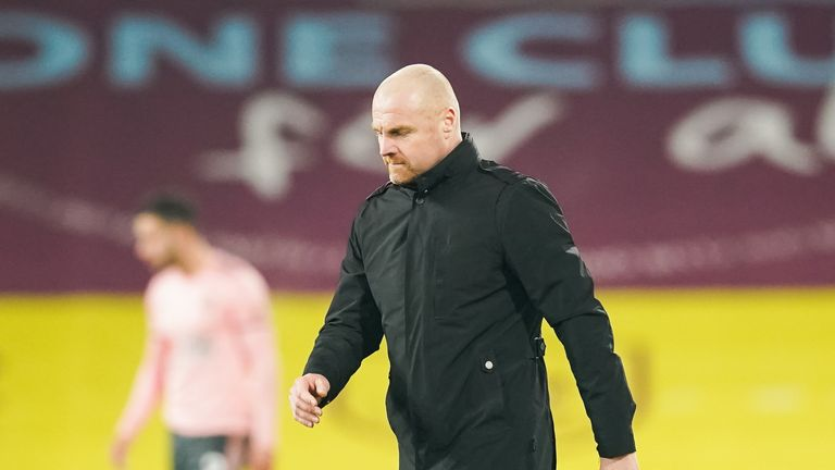 Burnley manager Sean Dyche during the Premier League match at Turf Moor, Burnley. 29/12/2020