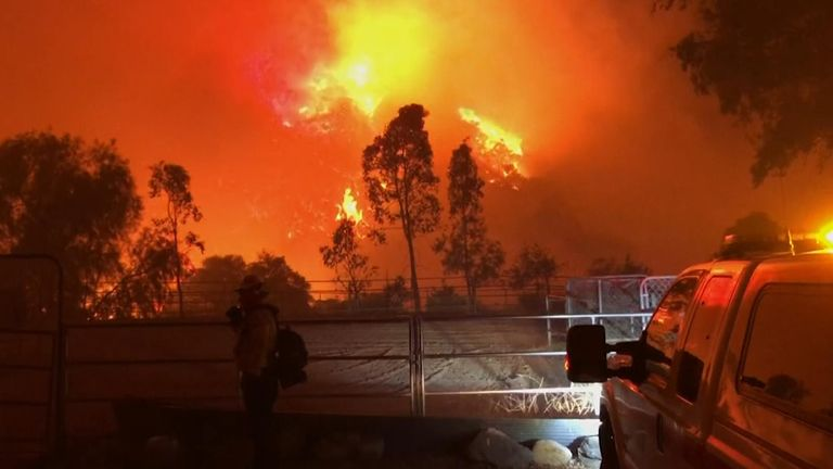 Wildfires in southern California