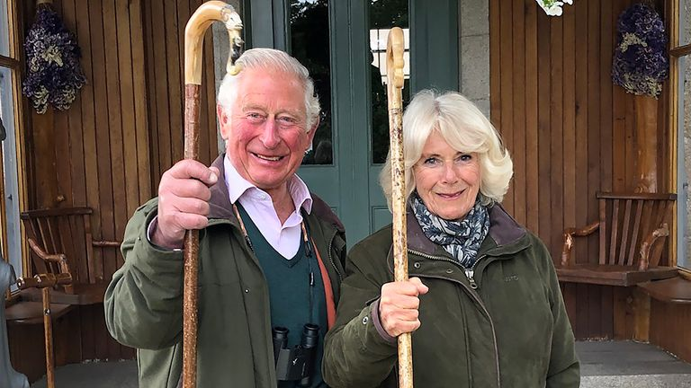The picture was taken at their Birkhall home on the Balmoral estate. Pic: Clarence House