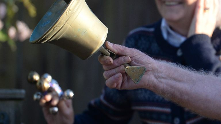 Thousands of people will ring their bells for two minutes at 6pm on Christmas Eve. File pic