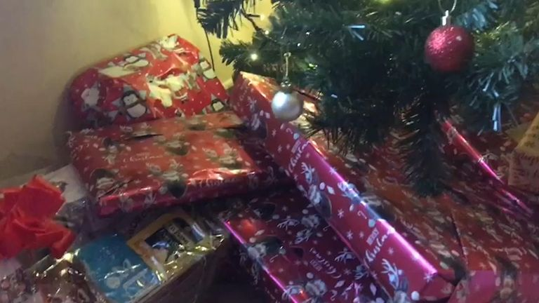 The Knight family had hoped to deliver their presents in person