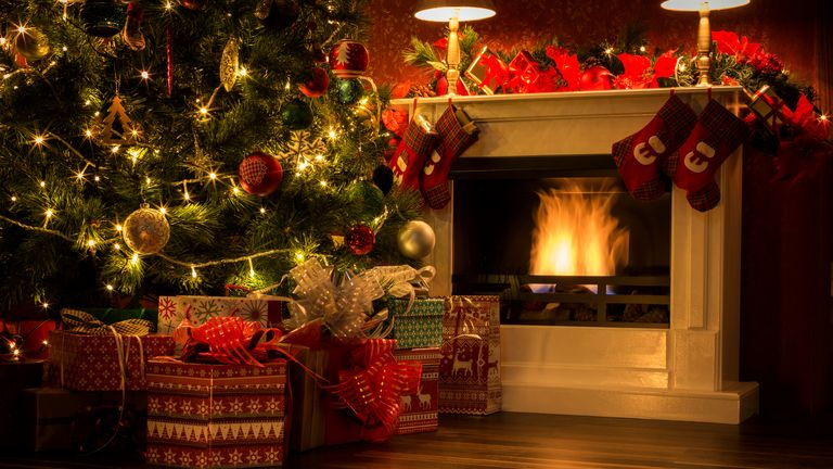 People should not place Christmas trees next to fireplaces. File pic