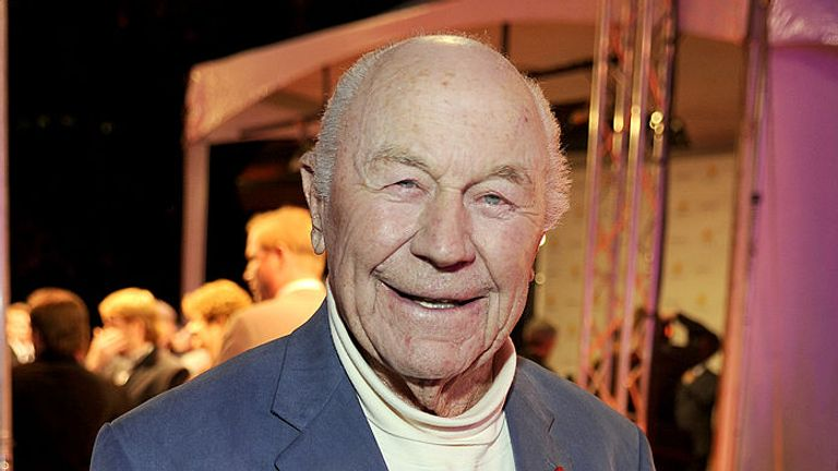 Yeager, pictured here in 2011, was a World War Two hero