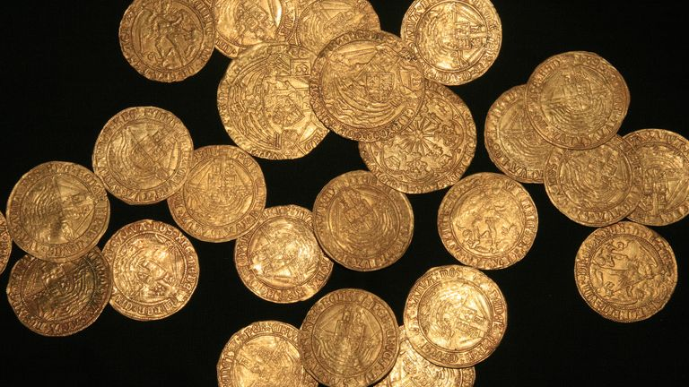 The entire hoard is said to have been worth more than the average wage at the time