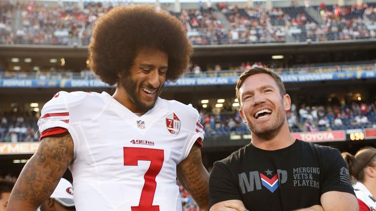 Colin Kaepernick with free agent Nate Boyer