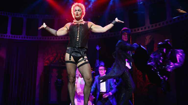 Craig McLachlan starred as Frank-N-Furter in the Rocky Horror Show