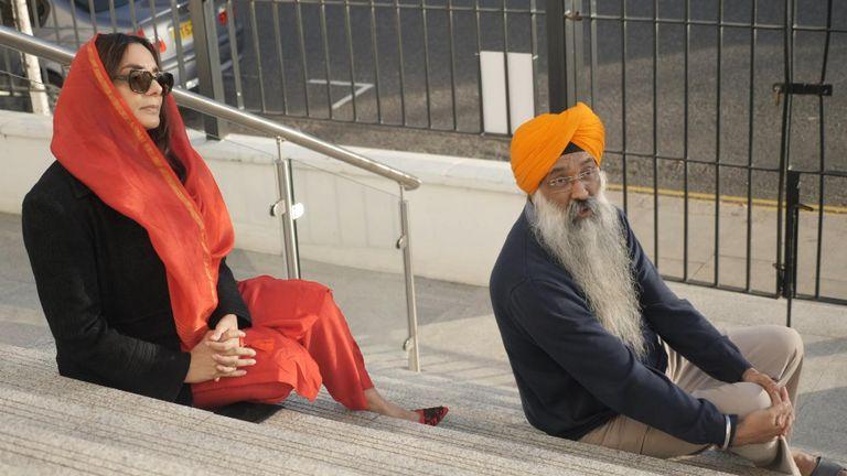 Dabinderjit Singh (r) and Ramneek Kaur have both suffered abuse
