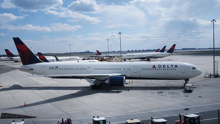 The plane was due to fly from Laguardia Airport to Atlanta but had to be vacated