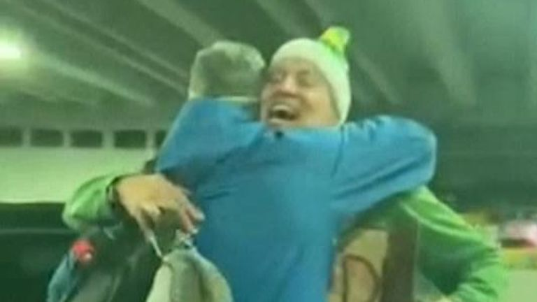 Mr Henning said dressing as an elf was a 'good way to break the ice'. Pic: @finnandboonthego