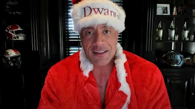 Dwayne 'The Rock' Johnson became 'Dwanta Claus' to help out a widowed father of two