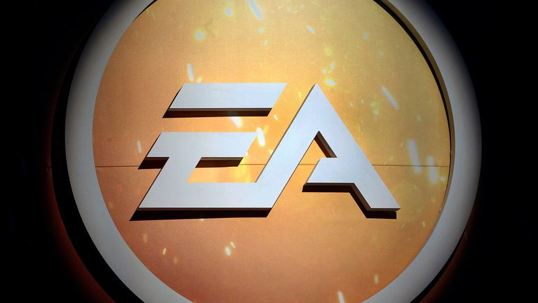 "PARIS, FRANCE - OCTOBER 27: Electronic Arts (EA) logo is seen during the ""Paris Games Week"" on October 27, 2016 in Paris, France. ""Paris Games Week is an international trade fair for video games to be held from October 27 to October 31, 2016. (Photo by Chesnot/Getty Images)"
