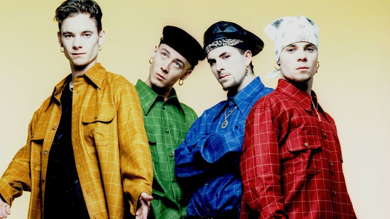 East 17 in 1995. Left to right: Tony Mortimer, John Hendy, Terry Coldwell and Brian Harvey