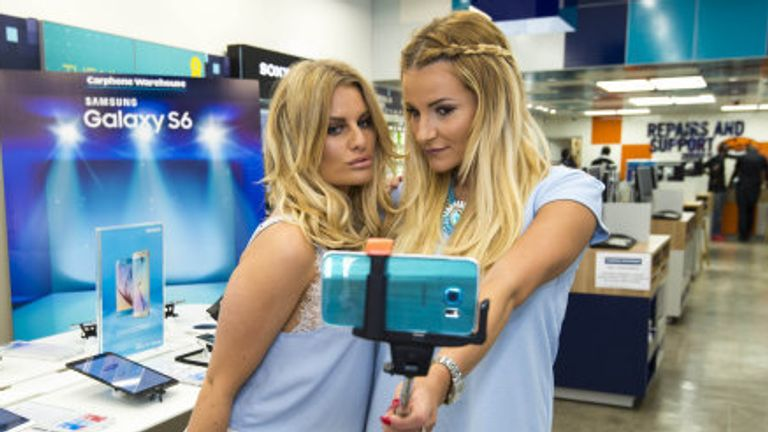 Stars of The Only Way Is Essex pose for a selfie