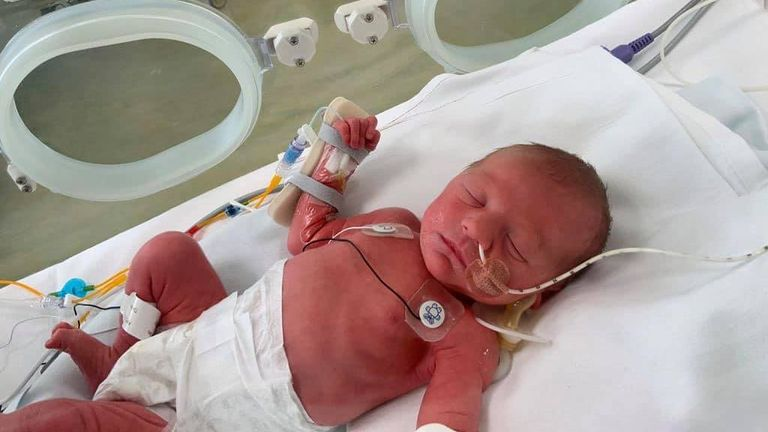 Finley was the youngest coronavirus patient the hospital had seen. Pic: Facebook