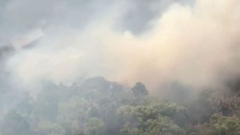 Fire on Fraser Island still burning after six weeks