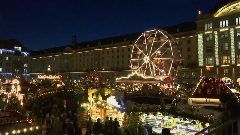 German Christmas market before COVID