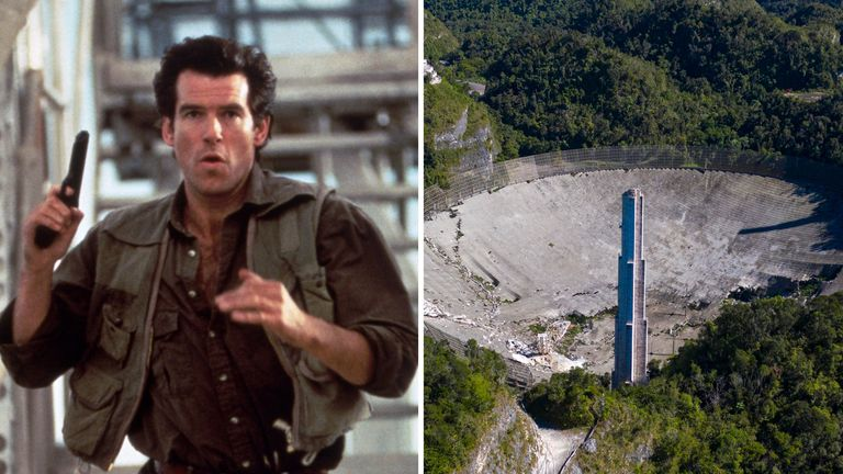 The Arecibo Observatory was scaled by Pierce Brosnan's James Bond in GoldenEye