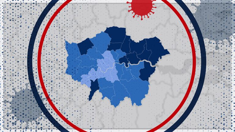 Case rates in London boroughs vary a lot