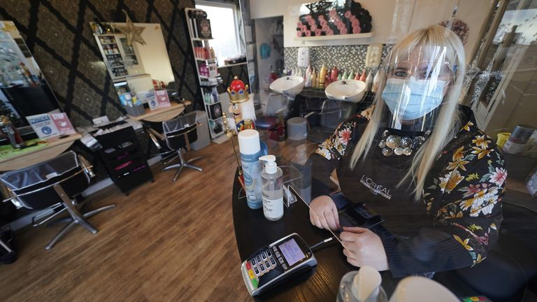 Hairdressers are also able to welcome clients back