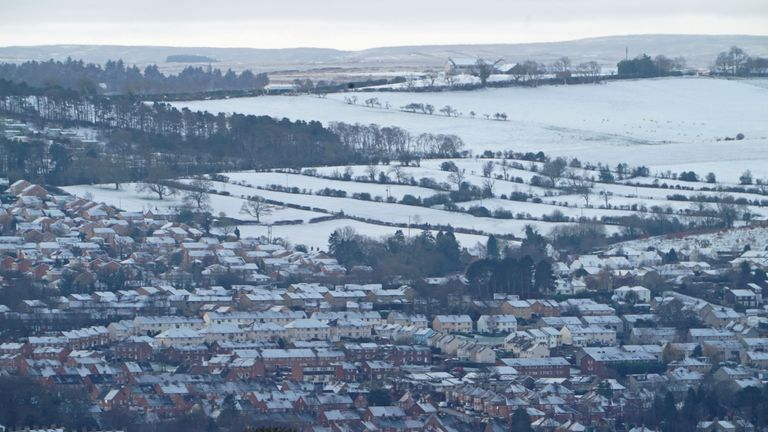 It snowed Friday morning in some parts of Northumberland