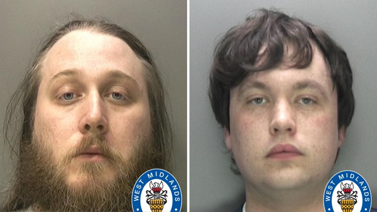 Nathan Maynard-Ellis (L) and David Leesley (R) have been jailed for their role in the murder. Pic: West Midlands Police