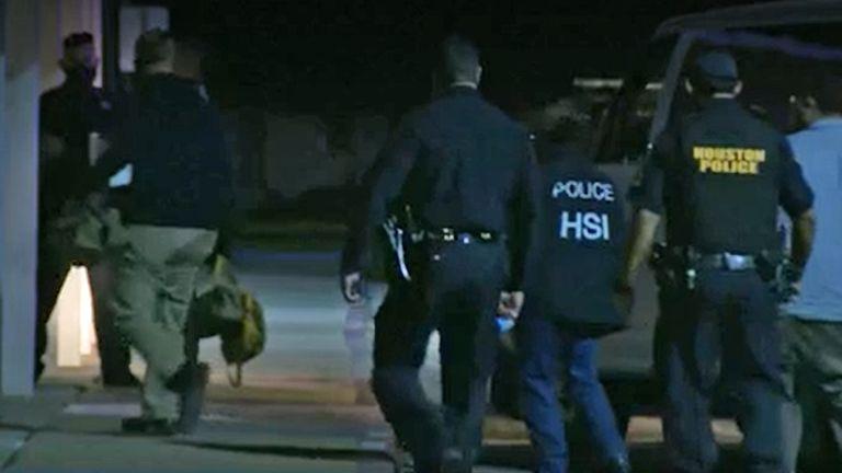 Police at the scene. Pic: NBC